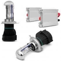 Kit Bi-Xênon Completo H4-3 8000K 35W 12V Lâmpada com Tonalidade Azul e Reator Função Anti Flicker - Prime