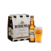 Kit Bohemia - Caixa com 6 Cervejas Pilsen + Copo Cervejaria - Cervejaria Bohemia