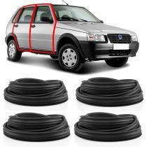 Kit Borracha Para 4 Portas Fiat Uno 2010 em diante - Disk bor