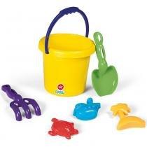 Kit Brinquedos de Praia Super Coloridos com 6 Peças 3009 - Calesita - Calesita