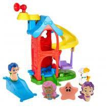 Kit Bubble Guppies Fundo do Mar Gil + Playset Casa do Bubble Puppy + Bonecas Amigos do Banho Molly e Ooma - Mattel