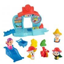 Kit Bubble Guppies Fundo do Mar Oona + Mercado do Bubble Puppy + Bonecas Amigos do Banho Gil e Bubble Puppy - Mattel