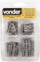 Kit bucha nylon 4/5/6/8mm com 53pc - Vonder - Vonder
