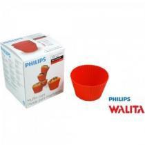 Kit c/ 5 Formas de CupCake e Muffins para AirFryer PHILIPS W - Philips walita