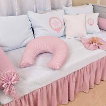Kit Cama Babá para menina Pequena Princesa 06 Peças - Hug Baby - Rosa -