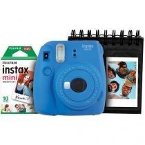 Kit Câmera Instantânea Fujifilm Instax Mini 9 Azul - Filme 10 Poses