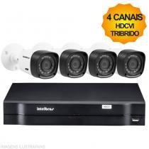 Kit Câmeras de Segurança Intelbras HDCVI Tribrido Dvr 4Ch + 4 Câmeras 1010B -