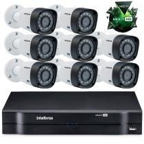 Kit Câmeras de segurança Intelbras MultiHD DVR 16c + 8 câmeras 1010B G3 -