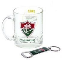Kit Caneca Vidro E Abridor Oficial Licenciado Fluminense - Ravi