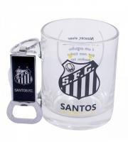 Kit Caneca Vidro E Abridor Oficial Licenciado Santos - Ravi