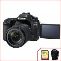 Kit Canon EOS 80D com 18-135mm f/3.5-5.6 IS Nano USM -