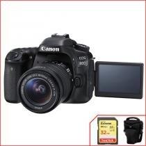 Kit Canon EOS 80D com 18-55mm f/3.5-5.6 IS STM -