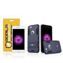 Kit Capa Armor Apple Iphone 6 Plus, 6s Plus e Pelicula de Vidro - Gorila Shield - Gorila Shield