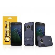 Kit Capa Armor e Pelicula de vidro dupla para Motorola Moto G5 Plus - Gorila Shield -
