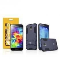 Kit Capa Armor Samsung Galaxy S5 New Edition e Pelicula de Vidro - Gorila Shield - Gorila Shield