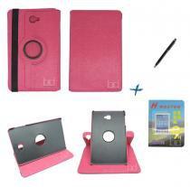 Kit Capa Case Galaxy Tab A Note - 10.1 P580 / P585 Giratória / Caneta Touch + Película de Vidro (Pink) - Skin t18