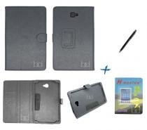 Kit Capa Case Galaxy Tab A Note - 10.1 T580 Carteira / Caneta Touch + Película de Vidro (Preto) - BD Net Imports