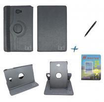 Kit Capa Case Galaxy Tab A Note - 10.1 T580 Giratória / Caneta Touch + Película de Vidro (Preto) - BD Net Imports