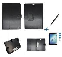 Kit Capa Case Galaxy Tab S3 - T820/T825 Carteira / Caneta Touch + Película de Vidro (Preto) - Skin t18