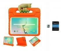 "Kit Capa Case Protetor Infantil Anti-Choque/Impacto Galaxy Tab A P550/P555/P580 9,7"" + Película de Vidro BD NET (Laranja) - BD Net Imports"