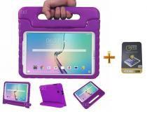 "Kit Capa Case Protetor Infantil Anti-Choque/Impacto Galaxy Tab A P550/P555/P580 9,7"" + Película de Vidro BD NET (Roxo) - BD Net Imports"