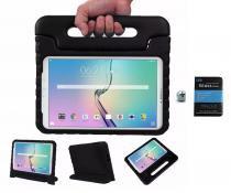 "Kit Capa Case Protetor Infantil Anti-Choque/Impacto Galaxy Tab E T560/T561 9,6"" + Película de Vidro (Preto) - Bd net imports"