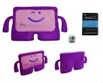 "Kit Capa Case Protetor Infantil Anti-Choque/Impacto Galaxy Tab Lite T110/T111 7"" + Película de Vidro (Roxo) - BD Net Imports"