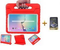 "Kit Capa Case Protetor Infantil Anti-Choque/Impacto Galaxy Tab S2 T810/815 9,7"" + Película de Vidro BD NET (Vermelho) - BD Net Imports"