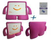 Kit Capa Case Protetor Infantil Anti-Choque/Impacto iPad 2/3/4 + Película de Vidro (Pink) - BD Net Imports