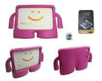 Kit Capa Case Protetor Infantil Anti-Choque/Impacto iPad Mini 4 + Película de Vidro (Pink) - Skin t18