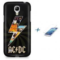 Kit Capa Case TPU Galaxy S4 Mini AC/DC acdc + Pel Vidro (BD01) - BD Net Imports