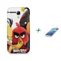 Kit Capa Case TPU Galaxy S4 Mini Angry Birds + Película de Vidro (BD01) - BD Net Imports