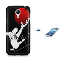 Kit Capa Case TPU Galaxy S4 Mini Basketball + Película de Vidro (BD01) - BD Net Imports