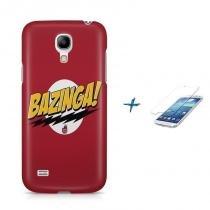 Kit Capa Case TPU Galaxy S4 Mini Bazinga + Película de Vidro (BD01) - BD Net Imports