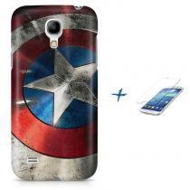Kit Capa Case TPU Galaxy S4 Mini Capitão América Avengers Vingadores + Pel Vidro (BD01) - BD Net Imports