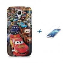 Kit Capa Case TPU Galaxy S4 Mini Carros + Película de Vidro (BD01) - BD Net Imports