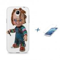 Kit Capa Case TPU Galaxy S4 Mini Chucky + Película de Vidro (BD01) - BD Net Imports