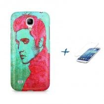 Kit Capa Case TPU Galaxy S4 Mini Elvis Presley + Película de Vidro (BD01) - BD Net Imports