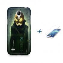 Kit Capa Case TPU Galaxy S4 Mini Halloween + Película de Vidro (BD01) - BD Net Imports