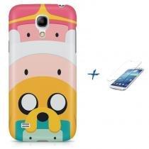 Kit Capa Case TPU Galaxy S4 Mini Hora da aventura Adventure Time + Pel Vidro  ( 02a789511a5a2