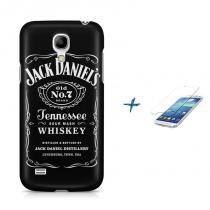 Kit Capa Case TPU Galaxy S4 Mini Jack Daniels + Película de Vidro (BD01) - BD Net Imports