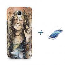 Kit Capa Case TPU Galaxy S4 Mini Janis Joplin + Película de Vidro (BD01) - BD Net Imports