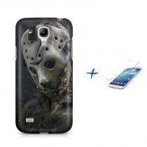 Kit Capa Case TPU Galaxy S4 Mini Jason Voorhees + Película de Vidro (BD01) - BD Net Imports
