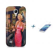 Kit Capa Case TPU Galaxy S4 Mini Marilyn Monroe + Película de Vidro (BD01) - BD Net Imports
