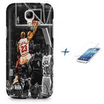 Kit Capa Case TPU Galaxy S4 Mini Michael Jordan 23 Basquete + Pel Vidro (BD01) - BD Net Imports