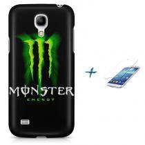 Kit Capa Case TPU Galaxy S4 Mini Monster Energy + Pel Vidro (BD01) - BD Net Imports