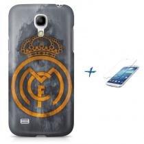 Kit Capa Case TPU Galaxy S4 Mini Real Madrid Futebol + Pel Vidro (BD01) - BD Net Imports