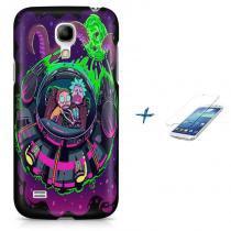 Kit Capa Case TPU Galaxy S4 Mini Rick And Morty + Pel Vidro (BD01) - BD Net Imports