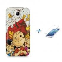 Kit Capa Case TPU Galaxy S4 Mini Snoopy + Película de Vidro (BD01) - BD Net Imports