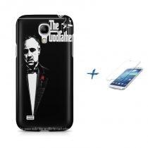 Kit Capa Case TPU Galaxy S4 Mini The Godfather + Película de Vidro (BD01) - BD Net Imports
